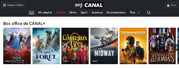 Films récents sur Canal+